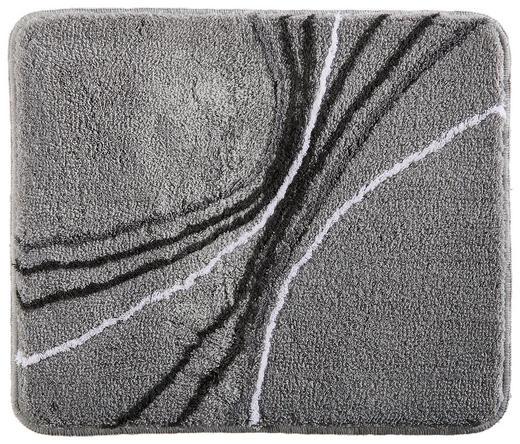 BADTEPPICH  Grau, Platinfarben  50/60 cm - Platinfarben/Grau, Design, Textil/Weitere Naturmaterialien (50/60cm) - Kleine Wolke