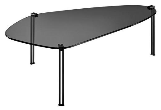 Couchtisch in 100/35/70 cm Schwarz - Schwarz, Design, Glas/Metall (100/35/70cm)
