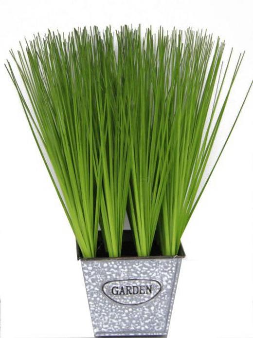 Grasbündel - Grün, Basics, Kunststoff/Metall (28cm) - Ambia Home