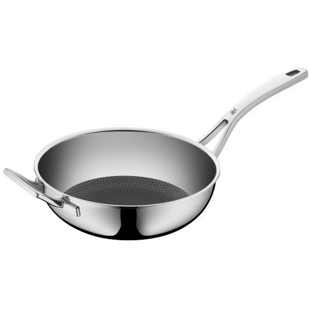WMF WOKPFANNE 28 cm, Silber, Schwarz