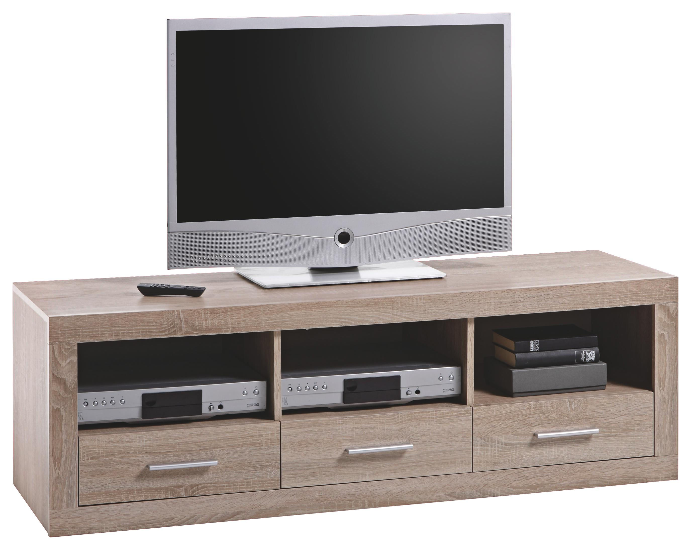 TV ELEMENT - boje hrasta/boje srebra, Design, drvni materijal/drvo (147 49 45cm) - Boxxx