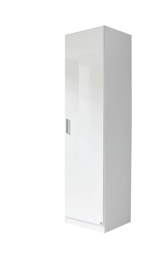 DREHTÜRENSCHRANK 1-türig Weiß - Alufarben/Weiß, Design, Kunststoff (47/197/54cm) - Carryhome