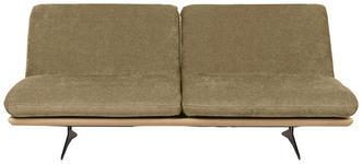 SCHLAFSOFA Hellgrün - Beige/Schwarz, Design, Holz/Textil (204/92/90cm) - Dieter Knoll
