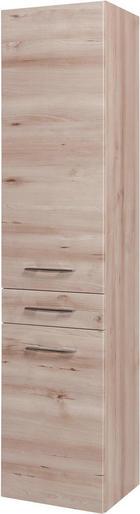 HOCHSCHRANK Buchefarben - Chromfarben/Buchefarben, KONVENTIONELL, Holzwerkstoff/Metall (40/180/35cm) - Xora