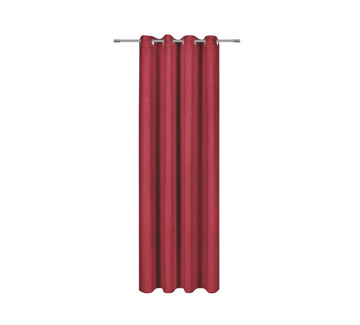 ÖSENVORHANG black-out (lichtundurchlässig)  - Rot, Basics, Textil (140/245cm) - Esposa