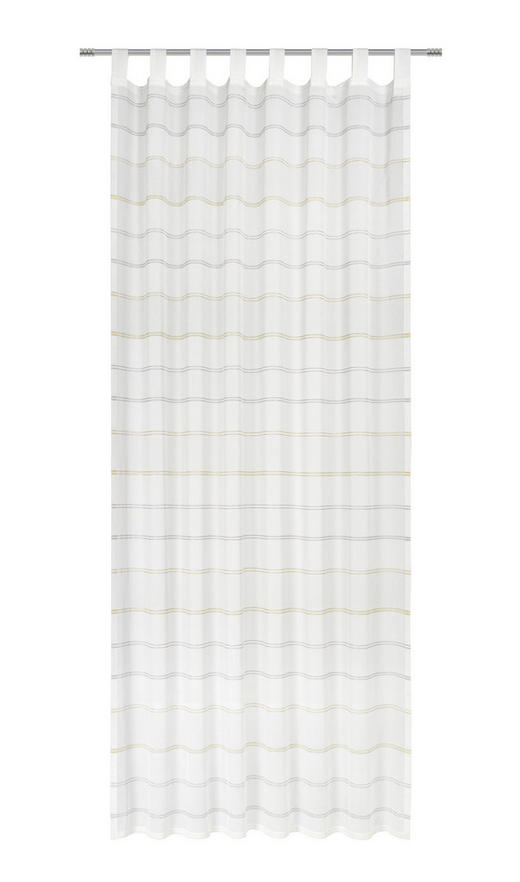 SCHLAUFENSCHAL  halbtransparent   140/255 cm - Gelb, Basics, Textil (140/255cm) - Esposa