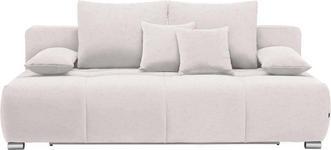 SCHLAFSOFA in Textil Beige - Chromfarben/Beige, Design, Kunststoff/Textil (212/72-90/108cm) - Hom`in