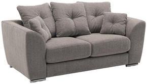 SOFFA - kromfärg/grå, Modern, metall/textil (198/92/98cm) - Welnova