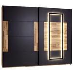 Schwebetürenschrank James - Eichefarben/Graphitfarben, KONVENTIONELL, Holzwerkstoff (270/225,5/60cm) - James Wood