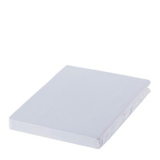 SPANNBETTTUCH Zwirn-Jersey Weiß bügelfrei, für Wasserbetten geeignet - Weiß, Basics, Textil (150/200cm) - Estella