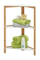 BADRUMSHYLLA - vit/naturfärgad, Klassisk, trä/träbaserade material (38/80/38cm) - Xora