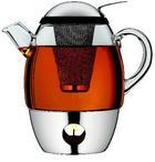 Teeset SmarTea - Klar/Edelstahlfarben, Basics, Glas/Metall (20cm) - WMF