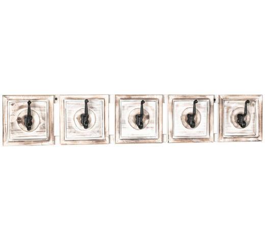 GARDEROBENLEISTE Tanne massiv Schwarz, Weiß, Hellbraun - Hellbraun/Schwarz, Trend, Holz/Metall (98/18/9cm)