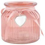 WINDLICHT - Rosa, Basics, Glas/Kunststoff (11/10cm) - Ambia Home