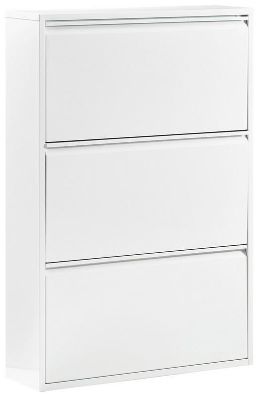 SCHUHKIPPER Weiß - Weiß, Design, Metall (76/115/23cm) - CARRYHOME