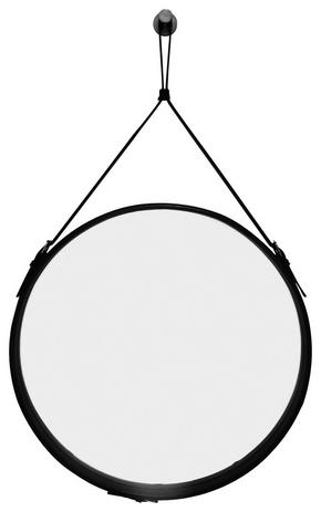 VÄGGSPEGEL - svart, Klassisk, metall/glas (50cm)