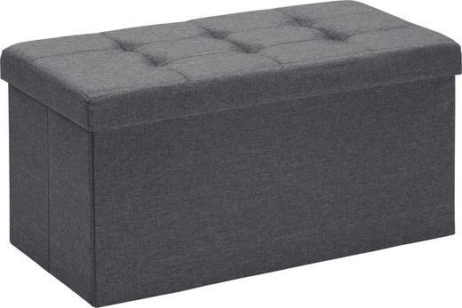 SITZBOX in Holzwerkstoff, Textil - Anthrazit, Design, Holzwerkstoff/Textil (76/38/38cm) - Carryhome