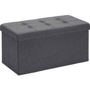 SITZBOX Linon, Vliesstoff Anthrazit  - Anthrazit, Design, Textil (76/38/38cm) - Carryhome