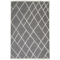Flachwebeteppich - Weiß/Grau, Design, Textil (80/150cm) - Novel