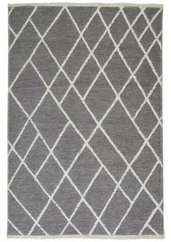 TEPIH NISKOG TKANJA - bijela/siva, Design, tekstil (80/150cm) - Novel