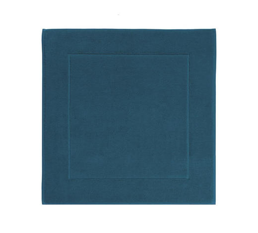 BADEMATTE  Blau  60/60 cm     - Blau, Basics, Textil (60/60cm) - Aquanova