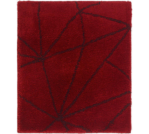 BADTEPPICH in Dunkelrot 55/65 cm - Dunkelrot, Design, Kunststoff/Textil (55/65cm) - Kleine Wolke