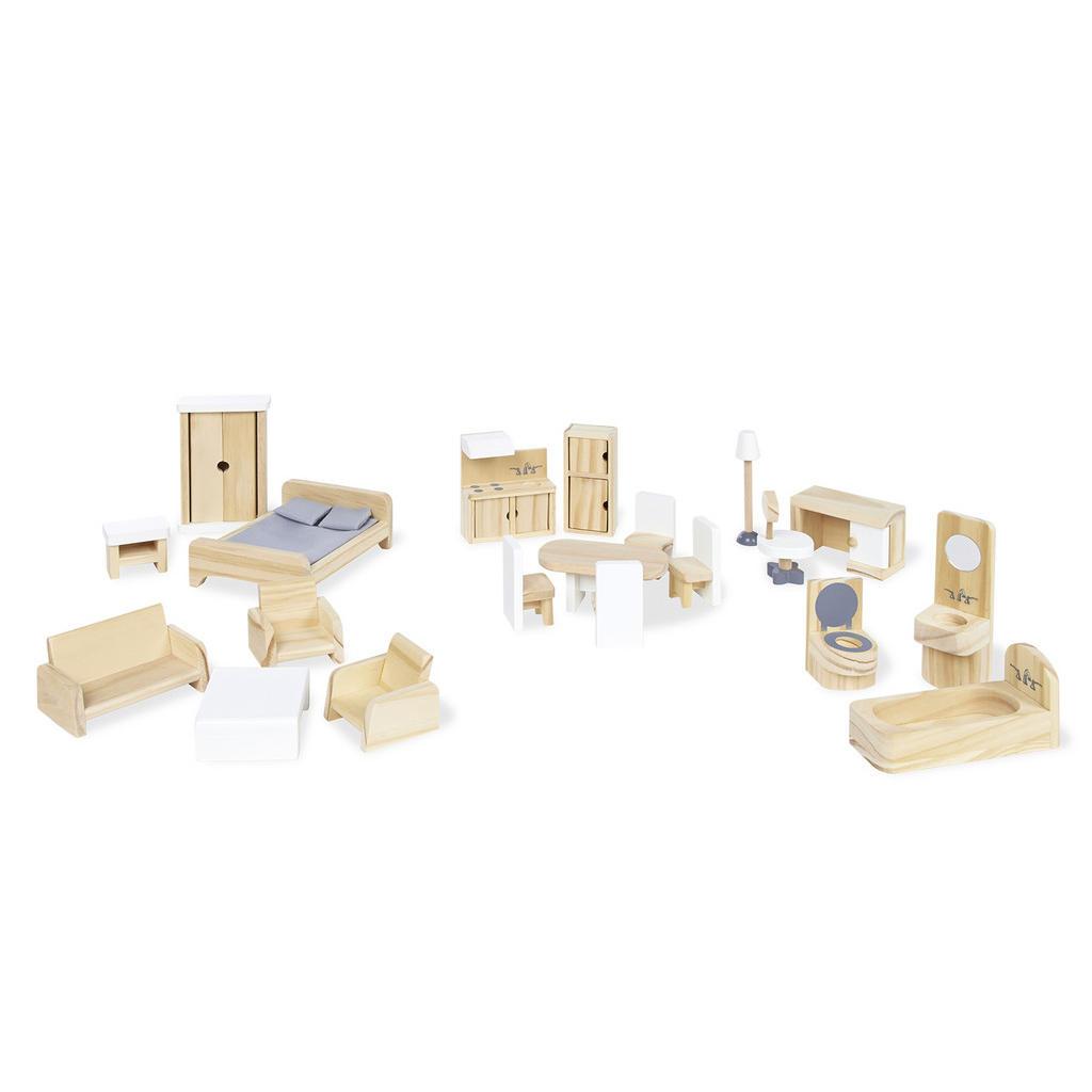XXXLutz Puppenhausmöbel 20-tlg: