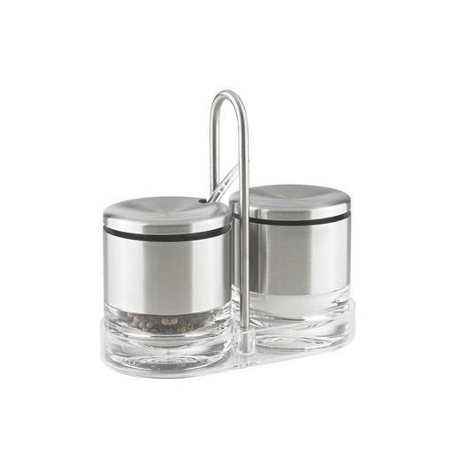 MENAGE-SET - Klar/Edelstahlfarben, KONVENTIONELL, Kunststoff/Metall (0cm) - Emsa