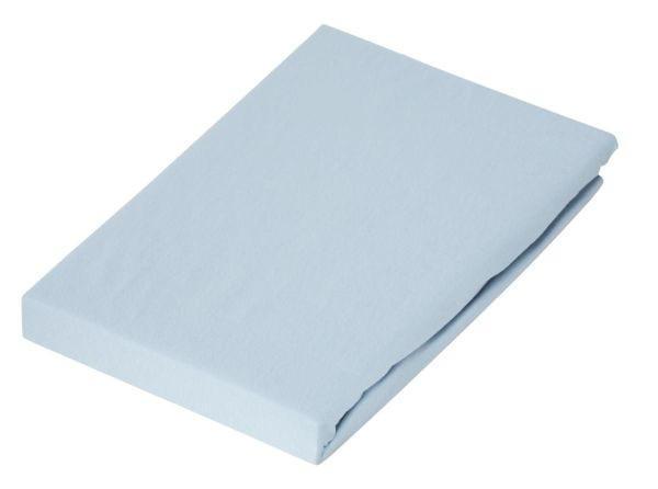 KINDERSPANNBETTTUCH - Hellblau, Basics, Textil (65/135cm) - SCHLAFGUT