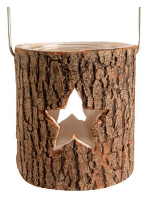 LJUSLYKTA - brun, Klassisk, metall/glas (9,5/10,5cm) - X-Mas