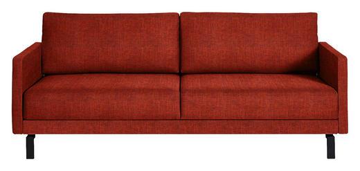 SCHLAFSOFA in Textil Orange - Schwarz/Orange, Design, Textil (220/88/104cm) - Bali