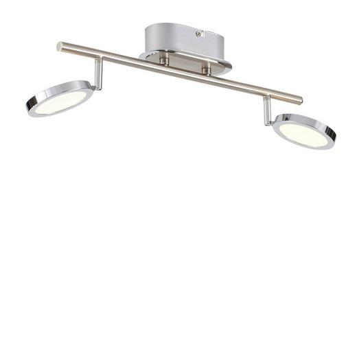 LED-DECKENLEUCHTE - Nickelfarben, Design, Metall (40,5/20/20cm) - Novel