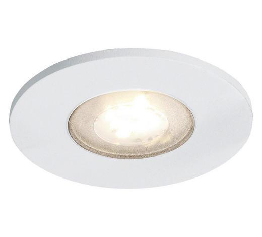 LED-STRAHLER - Alufarben/Weiß, Design, Metall (8,5/5,5cm)