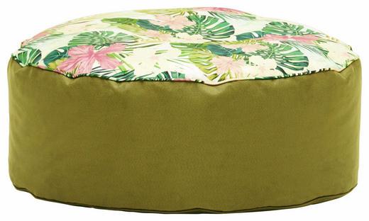 HOCKER Webstoff Multicolor, Olivgrün - Multicolor/Olivgrün, Design, Textil (80/30cm) - Carryhome