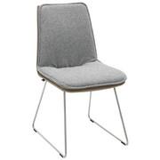 STUHL in Metall, Textil Edelstahlfarben, Fango, Grau - Edelstahlfarben/Fango, Design, Textil/Metall (48/87/62cm) - Venjakob
