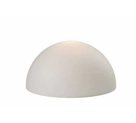 AUßENWANDLEUCHTE Weiß  - Weiß, MODERN, Kunststoff (50/25cm)
