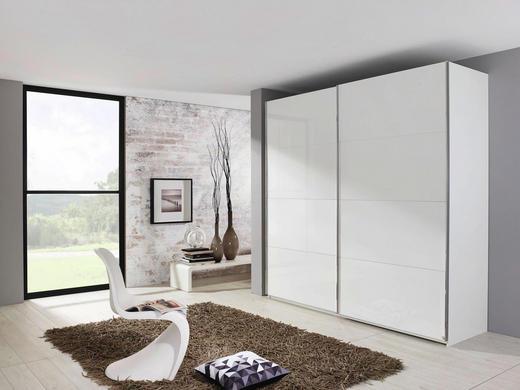 SCHWEBETÜRENSCHRANK 2-türig Weiß - Alufarben/Weiß, KONVENTIONELL, Holzwerkstoff/Metall (181/223/69cm) - Xora