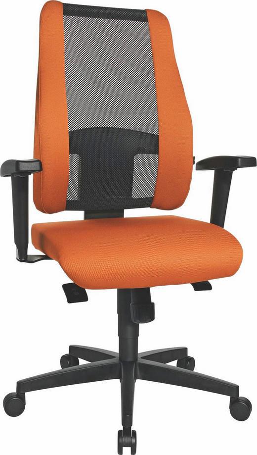DREHSTUHL Netzbespannung Orange, Schwarz - Schwarz/Orange, Design, Kunststoff/Textil (48/103-118/42cm)