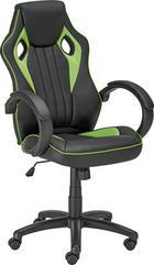 UREDSKA STOLICA - zelena/crna, Design, metal/tekstil (61/110-120/63cm) - Carryhome