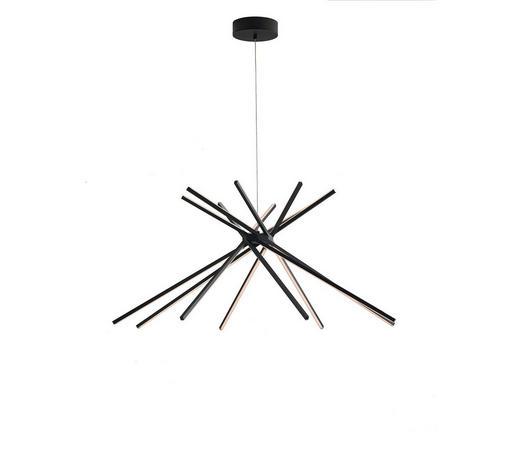 VISEČA LED-SVETILKA - črna, Design, kovina (113/160/4,5cm)
