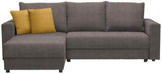 WOHNLANDSCHAFT in Textil Gelb, Hellbraun - Hellbraun/Gelb, Design, Kunststoff/Textil (176/246cm) - Xora
