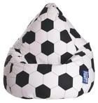SITZSACK Schwarz, Weiß - Schwarz/Weiß, Design, Textil (90/70cm) - Carryhome