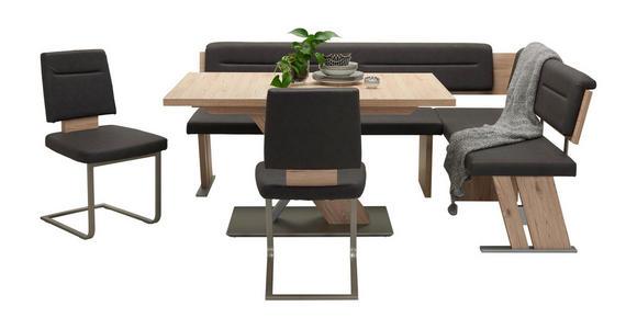 ECKBANKGRUPPE in Metall, Textil, Holzwerkstoff Eichefarben, Dunkelgrau  - Eichefarben/Dunkelgrau, KONVENTIONELL, Holzwerkstoff/Textil (155/205cm) - Cantus