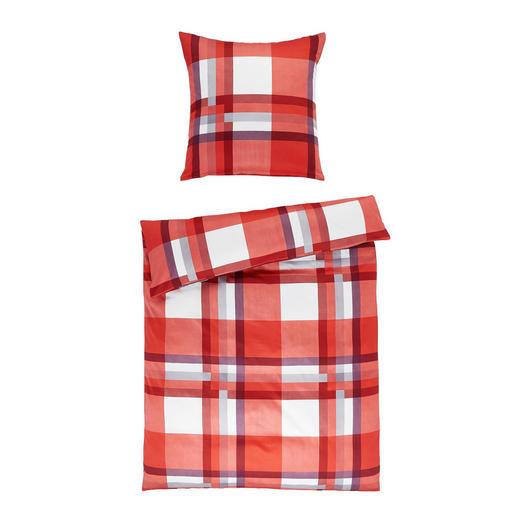 BETTWÄSCHE Makosatin Rot 135/200 cm - Rot, Textil (135/200cm) - Fleuresse