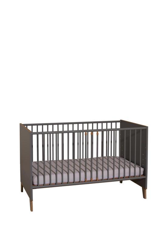 GITTERBETT Corinn - Eichefarben/Grau, Trend, Holzwerkstoff (143,4/76,6/78,9cm) - My Baby Lou