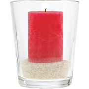 WINDLICHT - Klar, Basics, Glas (17cm) - Leonardo