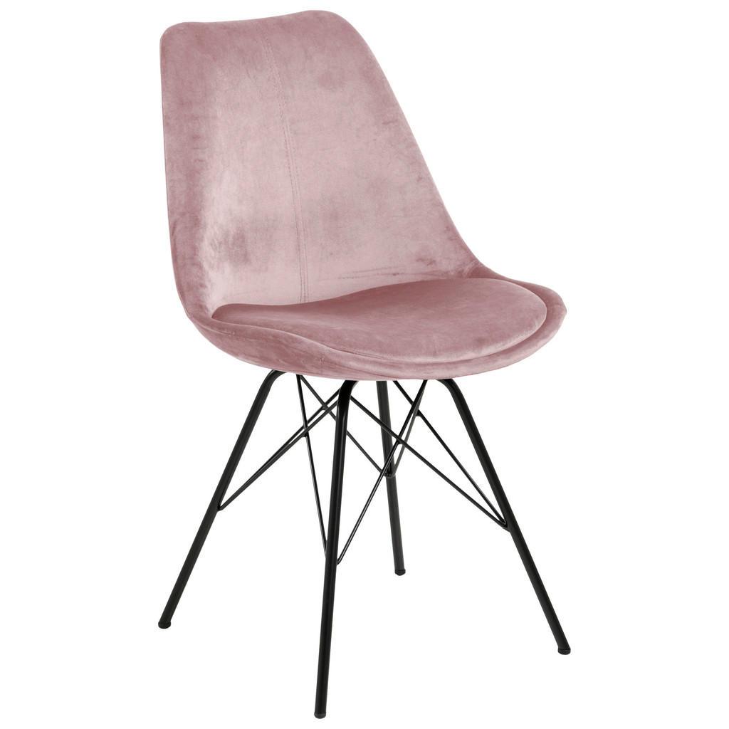 Carryhome Stuhl samt rosa
