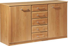 KOMMODE - Erlefarben, KONVENTIONELL, Holz/Holzwerkstoff (135/78/41cm) - Cantus