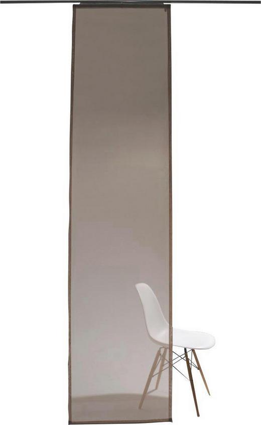 FLÄCHENVORHANG   transparent   60/245 cm - Taupe, Design, Textil (60/245cm)