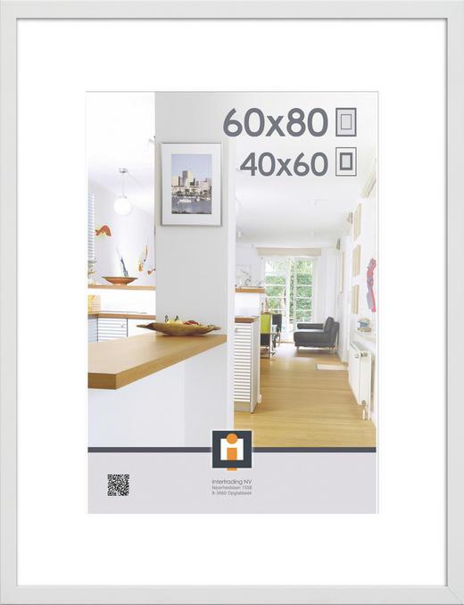 BILDERRAHMEN in Weiß - Weiß, Basics, Glas/Kunststoff (83/63/3cm)